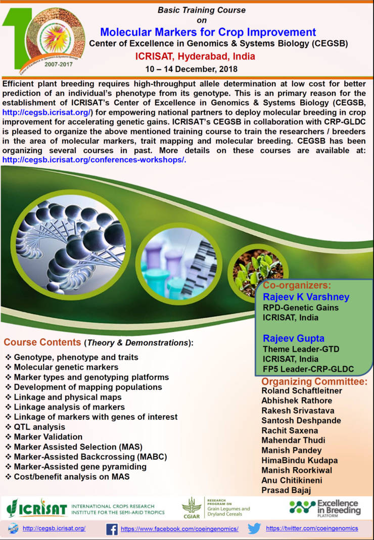 Basic Training Course on Molecular Markers for Crop Improvement
