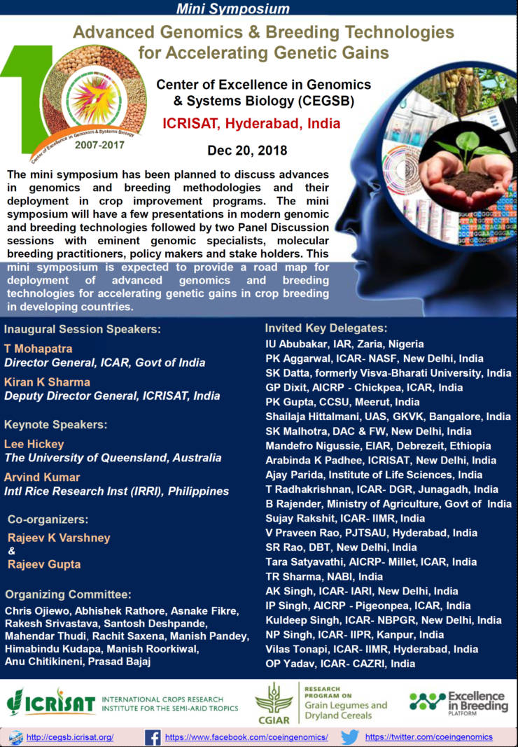 Mini Symposium Advanced Genomics & Breeding Technologies for Accelerating Genetic Gains